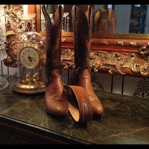 Justin Boots Shoes - Genuine Leather & Lizard Justin Boots n belt