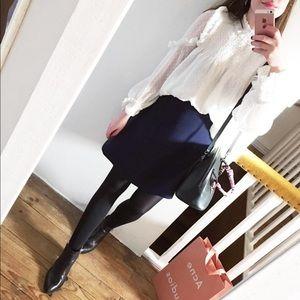 Zara white dot blouse