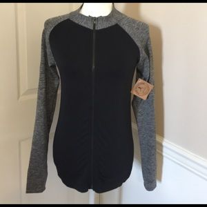 MAZE COLLECTION Black and grey Athletic Jacket