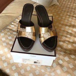 Coach Shoes - Coach slip on wedges