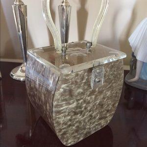 Vintage 1950's Lucite box purse.