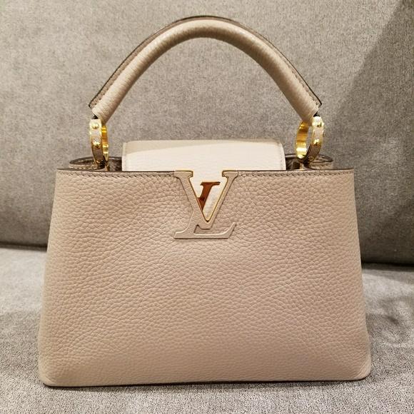 en anden chance officiel butik New York Louis Vuitton Capucines BB Galet