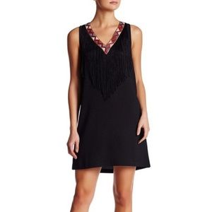 Jack by BB Dakota Dresses & Skirts - 💃🏼 V-neck Embroidered Fringe Dress