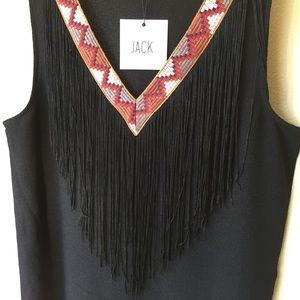 Jack by BB Dakota Dresses & Skirts - 💃🏼 V-neck Embroidered Fringe Dress