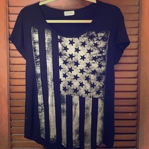 Tops - Distressed flag top
