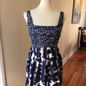 BB Dakota Dresses & Skirts - NWOT BB DAKOTA Blue and White Sleeveless Dress 6