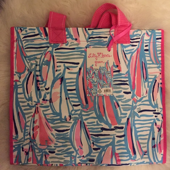 03ab4ef2c6442e 🌴LILLY PULITZER Market bag Red Right Return. M_58b0850f4e95a3773f0312b3