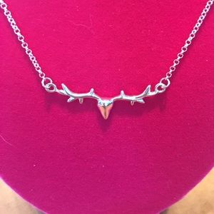 Jewelry - Sterling Silver Stag Necklace NWT