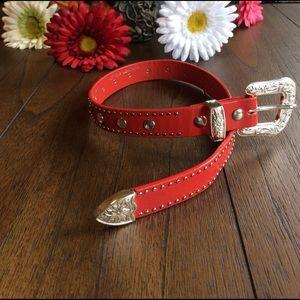 Nocona Other - Nocona Belt Co. Leather Bling Belt