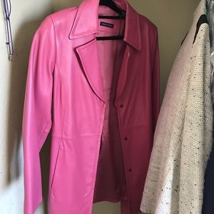 Valerie Stevens Jackets & Blazers - Pretty in pink leather trench coat