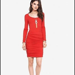 Express Dresses & Skirts - Express rouched red dress