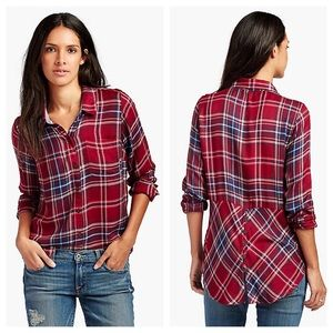 Lucky Brand High-low flannel