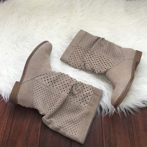 TOMS Shoes - TOMS Sierra Perforated Slouchy Boots