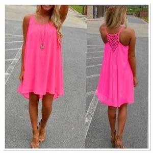 boutique Dresses & Skirts - 🎈OFFER $22 🎈SMALL-3XL PINK SUMMER SWING DRESS.