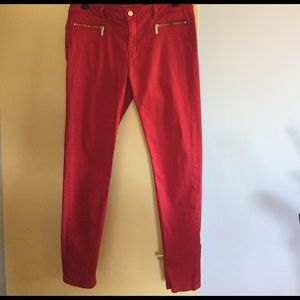 Michael Kors skinny red denim jeans