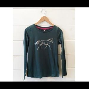 Joules Tops - Joules Hedgeford Pine Horse Top