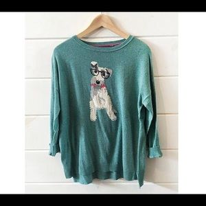 Joules Sweaters - Joules Meryl Sweater- Teal Dog