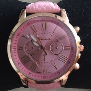 geneva Accessories - Watch Geneva bold face watch pink