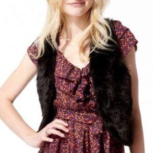 Olsenboye Jackets & Blazers - NWT Olsonboye Faux Fur Vest black size small