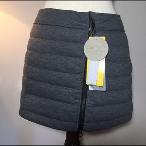 NWT lole gray down skirt size small