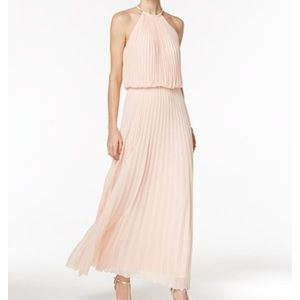 MSK Dresses & Skirts - MSK Pleated necklace halter maxi gown