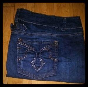 Torrid Denim mini skirt size 24