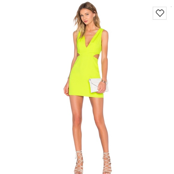 Naven heartthrob dress chartreuse cocktails