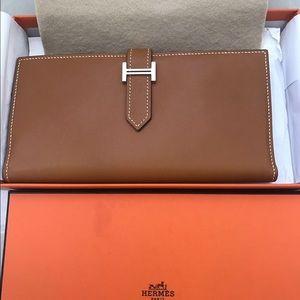 Hermes Handbags - Brand New Hermès Tadelakt Bearn Gusset
