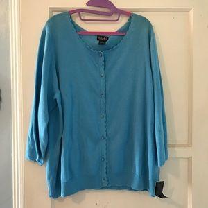 Blue Scallop Sweater