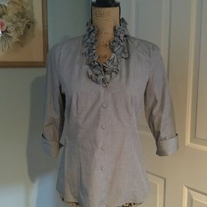 Talbots blue blouse