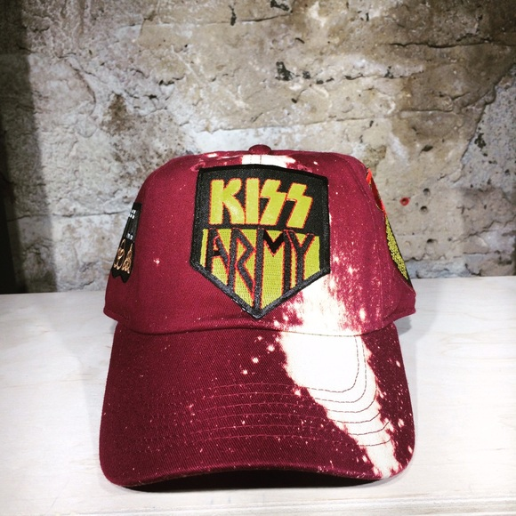 d44cc1a12ce9b3 Rock Band Krazy Accessories | Kiss Army Splatter Dye Dad Hat | Poshmark