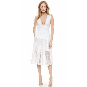 Nicholas Dresses & Skirts - NWT Nicholas Grid Lace Deep V Ball Dress