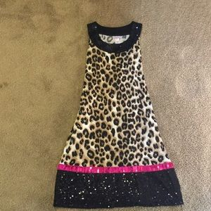 Justice Other - Justice Leopard Print and Sequin Sleeveless Dress