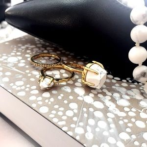Ann Taylor Jewelry - Howlite Marble Ring Set