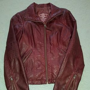Sebby Jackets & Blazers - Sebby Collection Faux-Leather Jacket