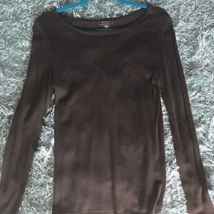 Sweaters - Black knit with mesh sweater.Size S