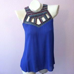 sugar lips Tops - Top sleeveless , blue. Aztec details, boho look