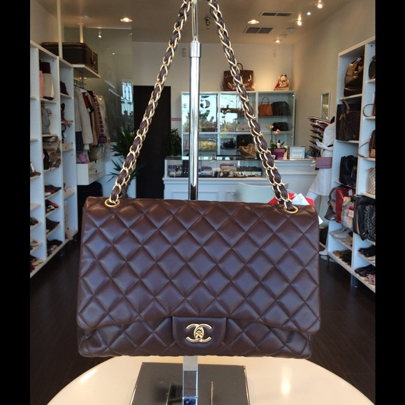 5540828d64d7ed CHANEL Bags | Classic Brown Coco Flap In Maxi Size | Poshmark