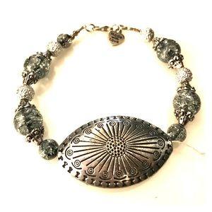 " SALEhandmade focal bead bracelet  9"""