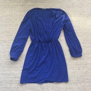 Tobi Dresses & Skirts - Tobi Royal Blue V-Neck Long Sleeve Dress M