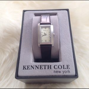 Kenneth Cole black leather watch
