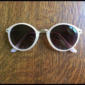 UO light pink sunglasses