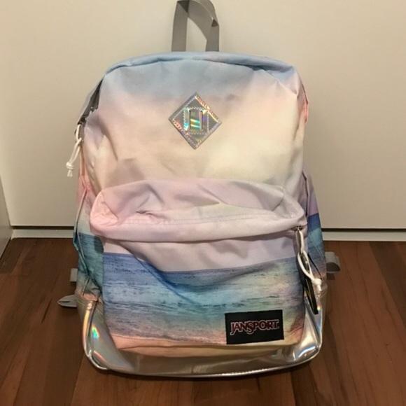 41edc746b361 Jansport Handbags - Beach print holographic backpack