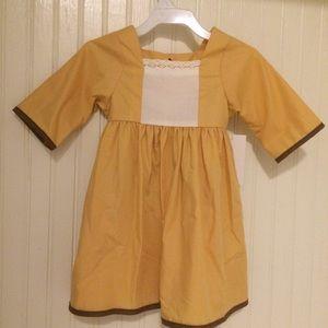 NOLA Smocked Other - 🍂Yellow-gold fall pinafore dress