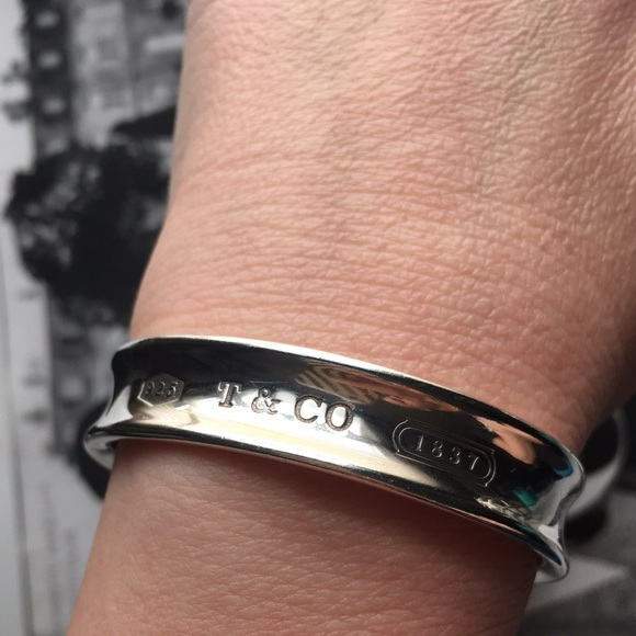 b24c19ff0 Tiffany & Co. Jewelry | Tiffany Co Sterling Silver 1837 Cuff ...