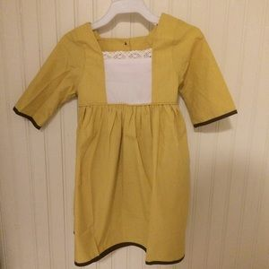 NOLA Smocked Other - 6m-5t🍂Mustard fall pinafore dress