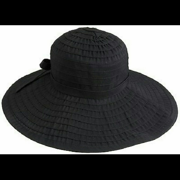 36594710a [San Diego Hat Co.] Large Black Floppy Sun Hat NWT