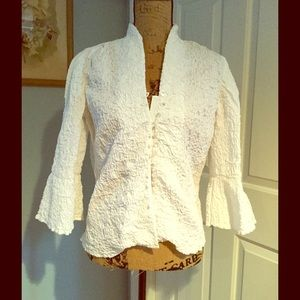 GO SILK romantic blouse