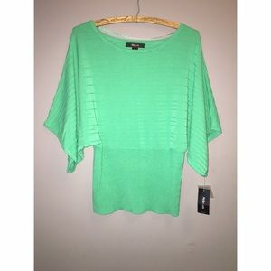 NEW Style & Co Green Dolman Sleeve Sweater
