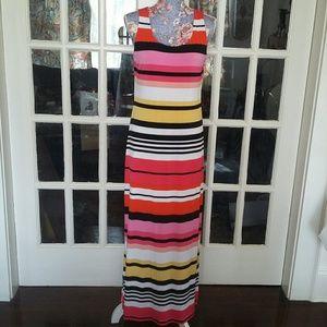 Jessica Howard Dresses & Skirts - Jessica Howard Long Striped Multi Color Dress NWT